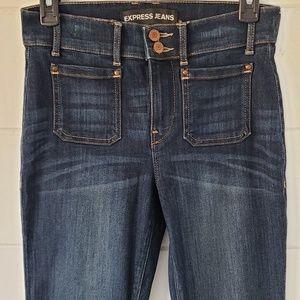 Express Bell Flare Jeans - Dark Wash